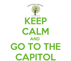 Poster: KEEP CALM AND  GO TO THE CAPITOL