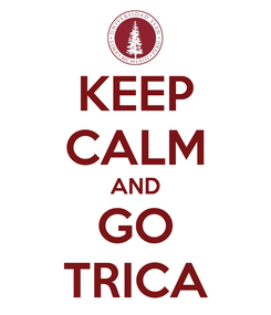 Poster: KEEP CALM AND GO TRICA