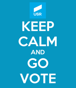 Poster: KEEP CALM AND GO VOTE