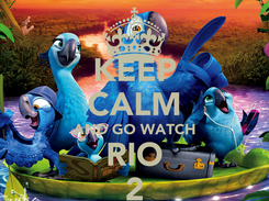 Poster: KEEP CALM AND GO WATCH RIO 2