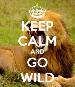 Poster: KEEP CALM AND GO WILD