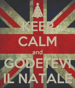 Poster: KEEP CALM and GODETEVI IL NATALE