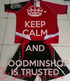 Poster: KEEP CALM AND GOODMINSHOP IS TRUSTED