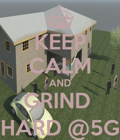 Poster: KEEP CALM AND GRIND  HARD @5G