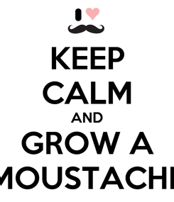 Poster: KEEP CALM AND GROW A MOUSTACHE