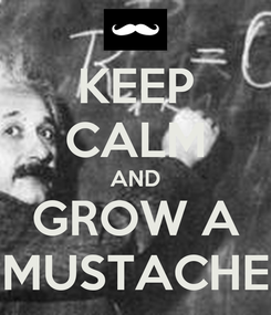 Poster: KEEP CALM AND GROW A MUSTACHE