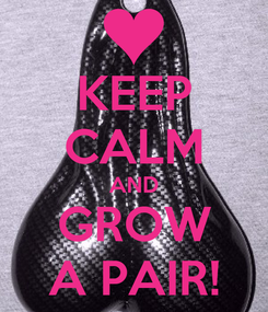 Poster: KEEP CALM AND GROW A PAIR!