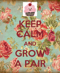 Poster: KEEP CALM AND GROW A PAIR
