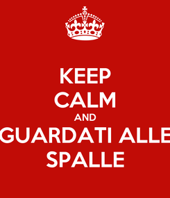 Poster: KEEP CALM AND GUARDATI ALLE SPALLE
