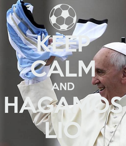Poster: KEEP CALM AND HAGAMOS LIO