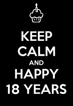 Poster: KEEP CALM AND HAPPY 18 YEARS