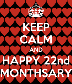 Poster: KEEP CALM AND HAPPY 22nd MONTHSARY