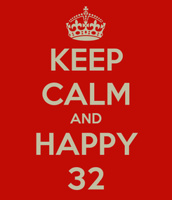 Poster: KEEP CALM AND HAPPY 32