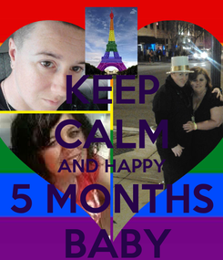 Poster: KEEP CALM AND HAPPY 5 MONTHS  BABY