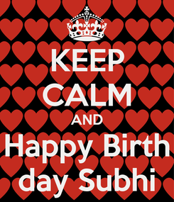 Poster: KEEP CALM AND Happy Birth day Subhi