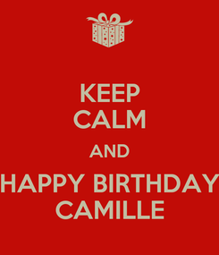 Poster: KEEP CALM AND HAPPY BIRTHDAY CAMILLE