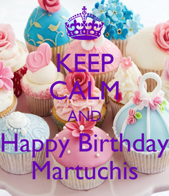 Poster: KEEP CALM AND Happy Birthday Martuchis