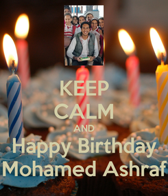 Poster: KEEP CALM AND Happy Birthday Mohamed Ashraf