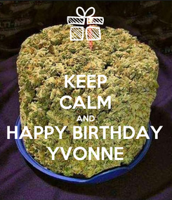 Poster: KEEP CALM AND HAPPY BIRTHDAY YVONNE