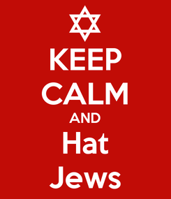 Poster: KEEP CALM AND Hat Jews