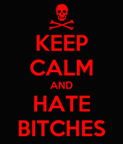 Poster: KEEP CALM AND HATE BITCHES