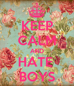 Poster: KEEP CALM AND HATE  BOYS
