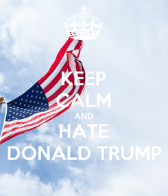 Poster: KEEP CALM AND HATE DONALD TRUMP