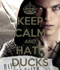 Poster: KEEP CALM AND HATE DUCKS