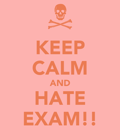 Poster: KEEP CALM AND HATE EXAM!!