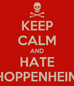 Poster: KEEP CALM AND HATE HOPPENHEIM