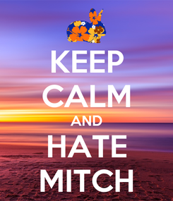 Poster: KEEP CALM AND HATE MITCH
