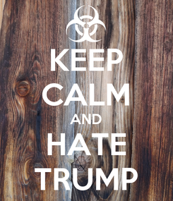 Poster: KEEP CALM AND HATE TRUMP