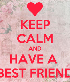 Poster: KEEP CALM AND HAVE A  BEST FRIEND