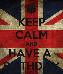 Poster: KEEP CALM AND HAVE A  BIRTHDAY