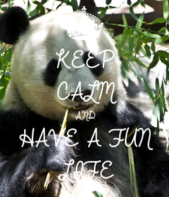 Poster: KEEP CALM AND HAVE A FUN LIFE