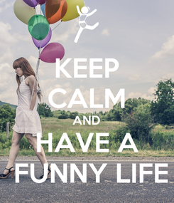 Poster: KEEP CALM AND HAVE A  FUNNY LIFE