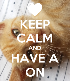 Poster: KEEP CALM AND HAVE A ON