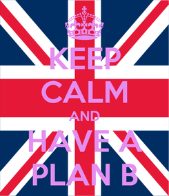 Poster: KEEP CALM AND HAVE A PLAN B