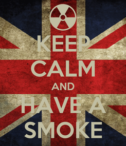 Poster: KEEP CALM AND HAVE A SMOKE