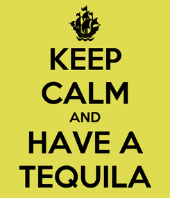 Poster: KEEP CALM AND HAVE A TEQUILA