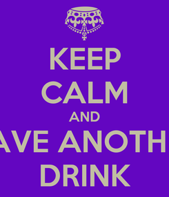 Poster: KEEP CALM AND HAVE ANOTHER DRINK