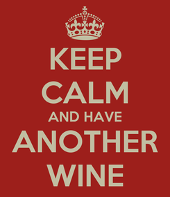 Poster: KEEP CALM AND HAVE ANOTHER WINE