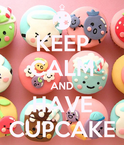 Poster: KEEP CALM AND HAVE CUPCAKE