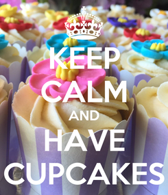 Poster: KEEP CALM AND HAVE CUPCAKES