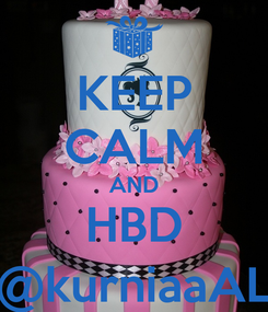 Poster: KEEP CALM AND HBD @kurniaaAL