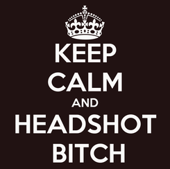 Poster: KEEP CALM AND HEADSHOT  BITCH