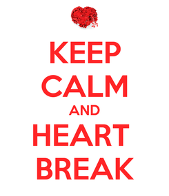 Poster: KEEP CALM AND HEART  BREAK