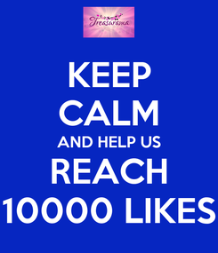 Poster: KEEP CALM AND HELP US REACH 10000 LIKES