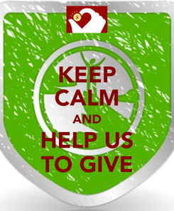 Poster: KEEP CALM AND HELP US TO GIVE