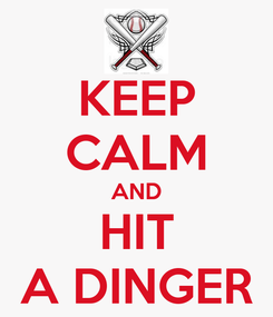 Poster: KEEP CALM AND HIT A DINGER